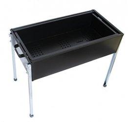 Schaschlik grill Mangal Black Edition (mit 10 Spiessen)